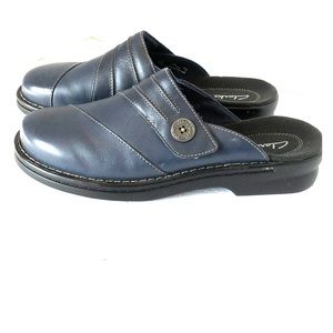 Clarks Navy Blue Patty Belize slip on clogs mules